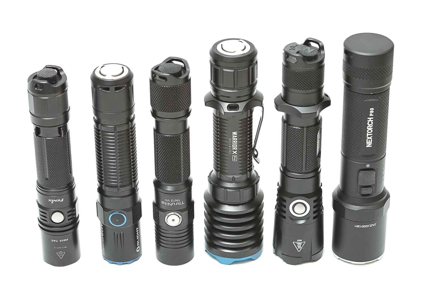 Nextorch P80 compared to other flashlights 2
