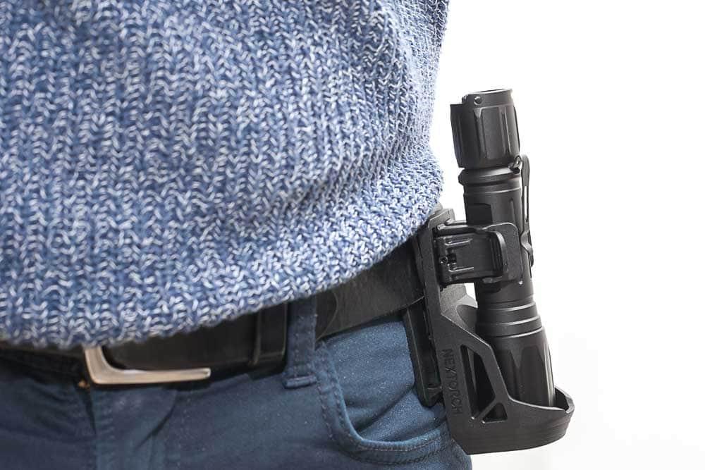 nextorch inside holster on belt
