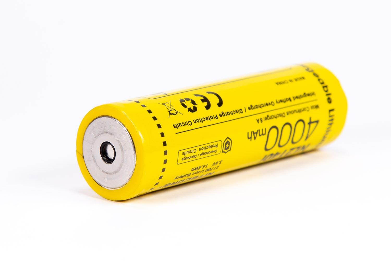 yellow nitecore battery