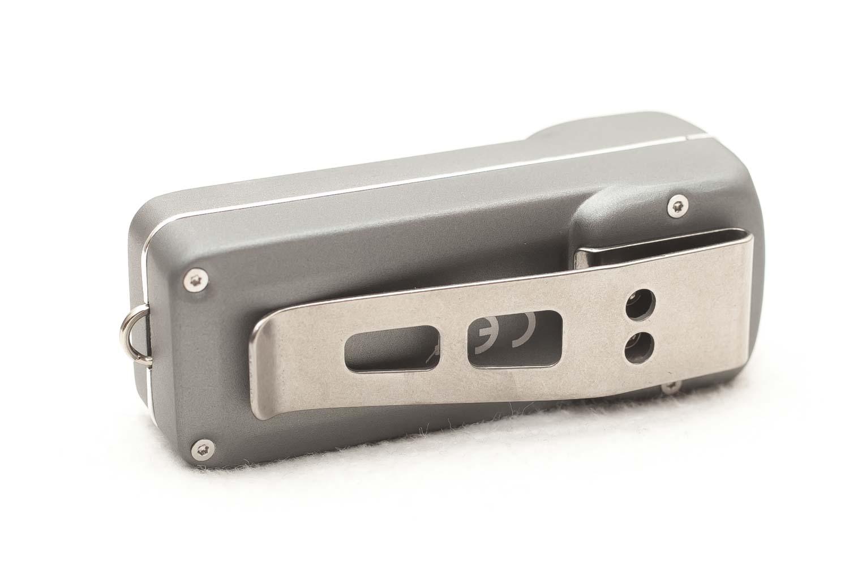 silver pocket clip on Nitecore TUP