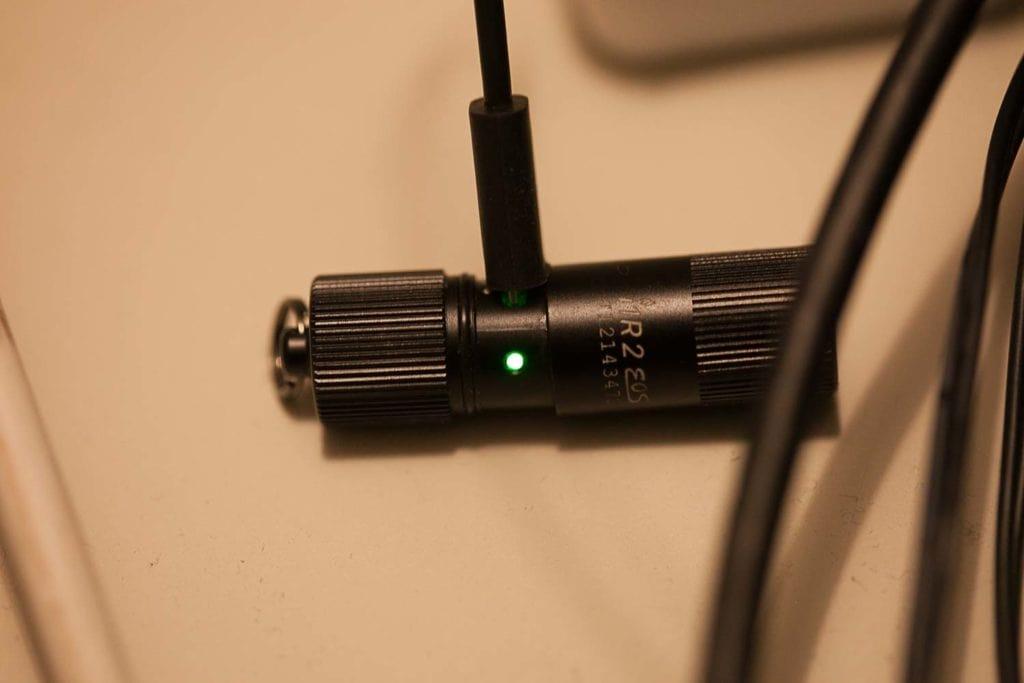 green light when charging