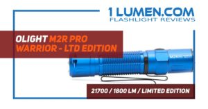 Olight M2R PRO Warrior limited edition review