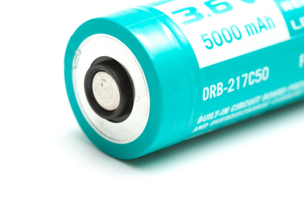 olight battery closeup