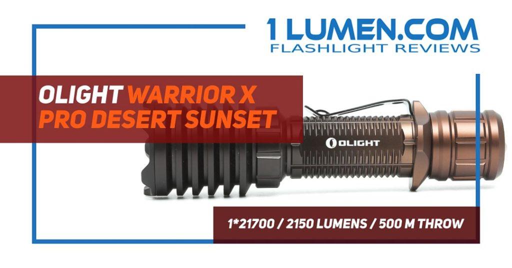 Olight Warrior X PRO Desert Sunset review