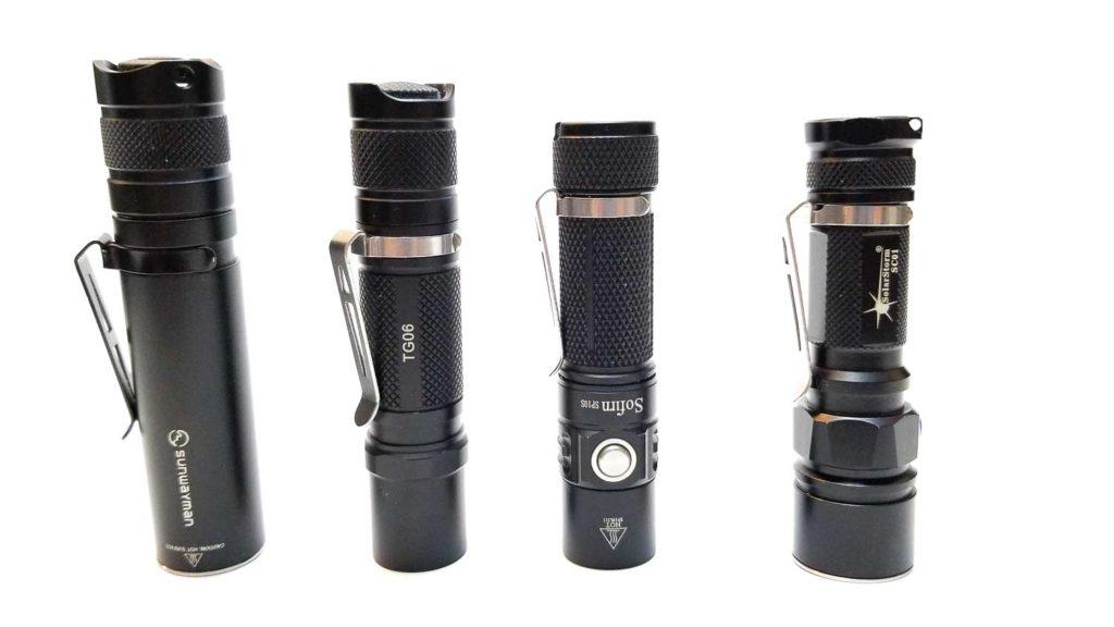 4 AA flashlights next to eachother