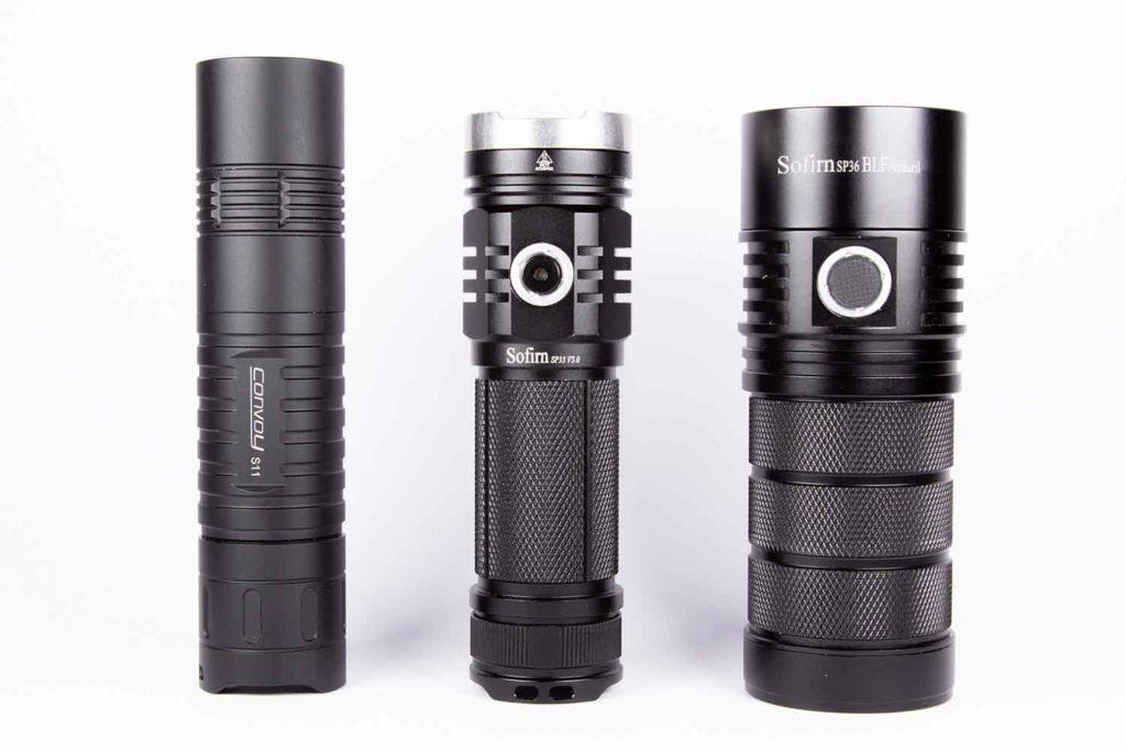3 flashlights