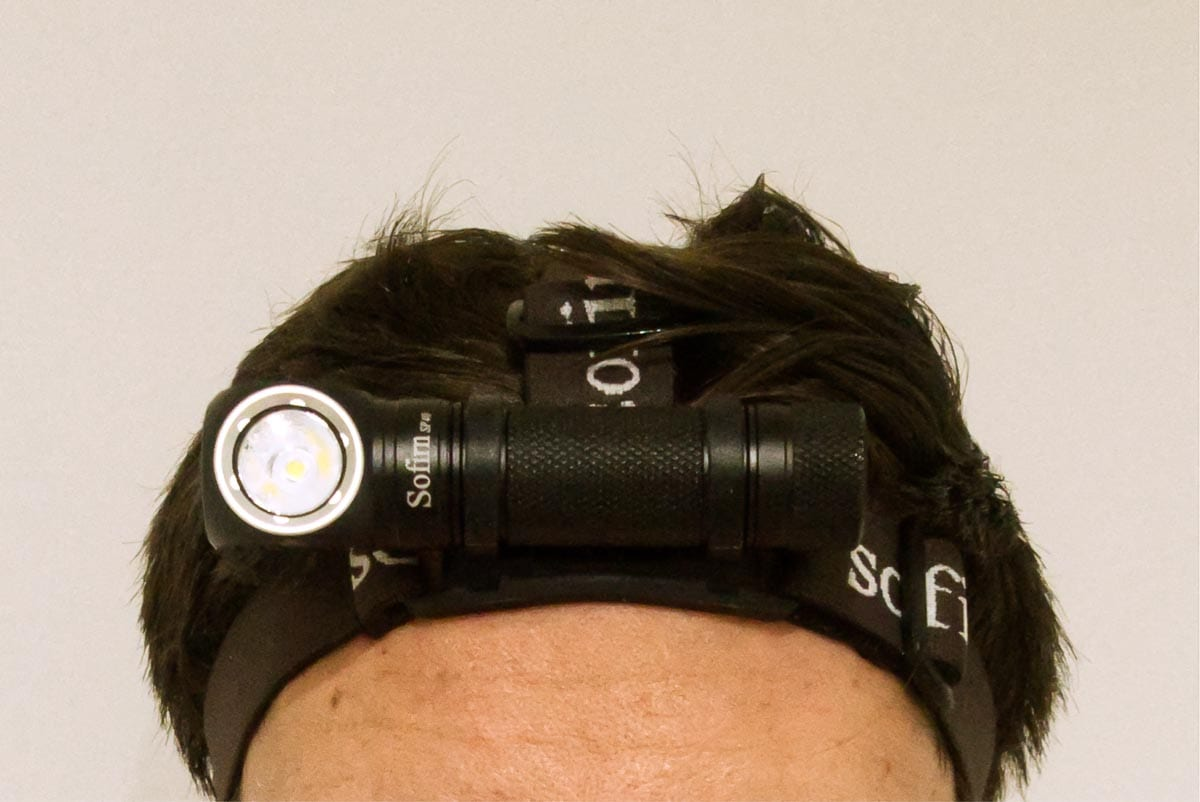 headlamp attached