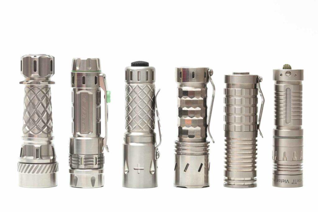 Titanium flashlights