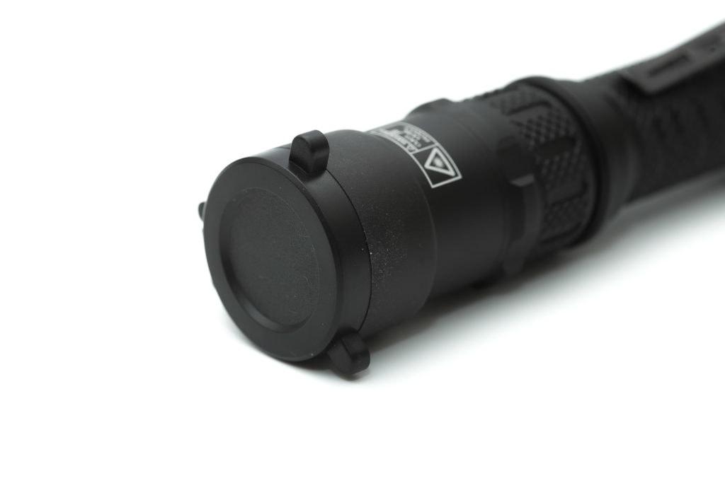lens cover of black flashlight