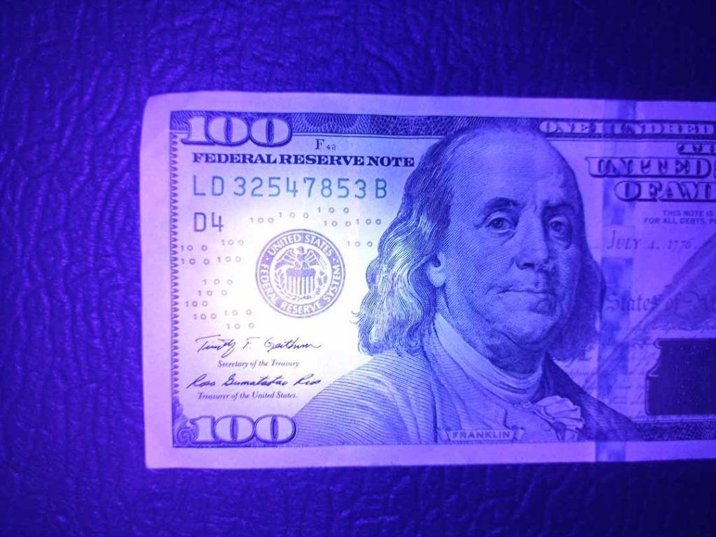 UV flashlight picture