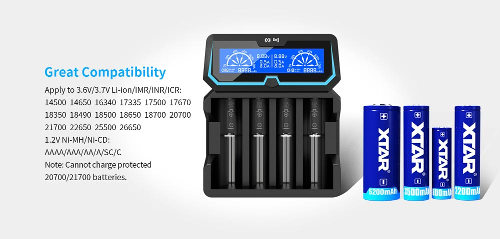 Xtar X4 battery charger
